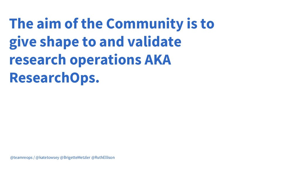 The aim of the Community is to give shape to an...