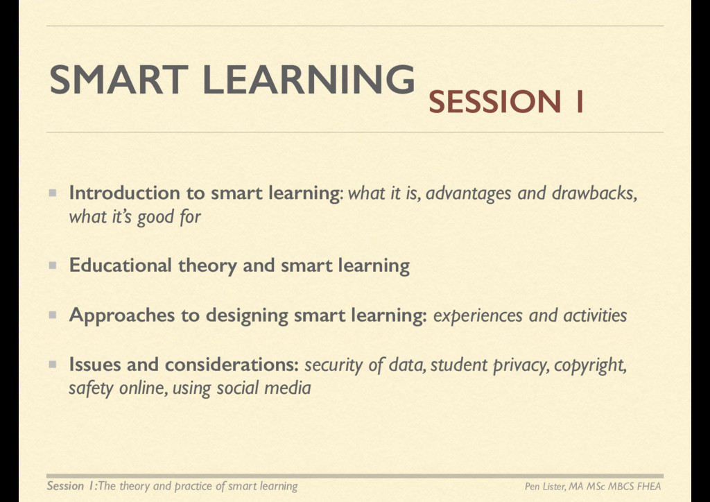 SMART LEARNING Introduction to smart learning: ...