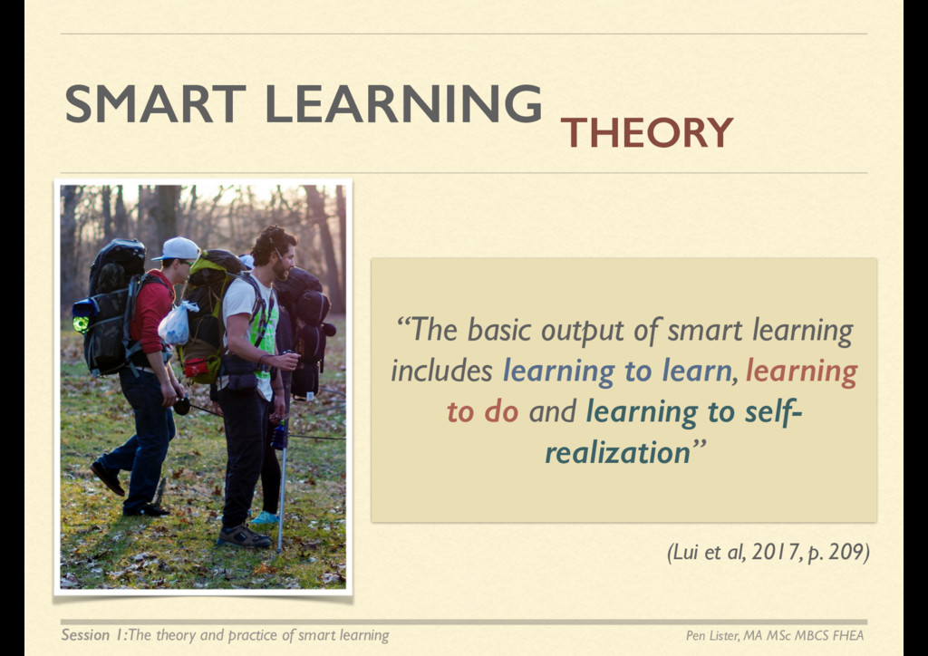 SMART LEARNING THEORY Pen Lister, MA MSc MBCS F...
