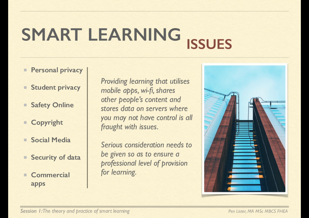 SMART LEARNING ISSUES Providing learning that u...