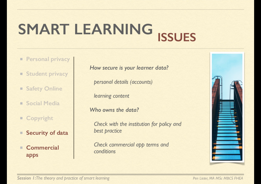 SMART LEARNING ISSUES How secure is your learne...