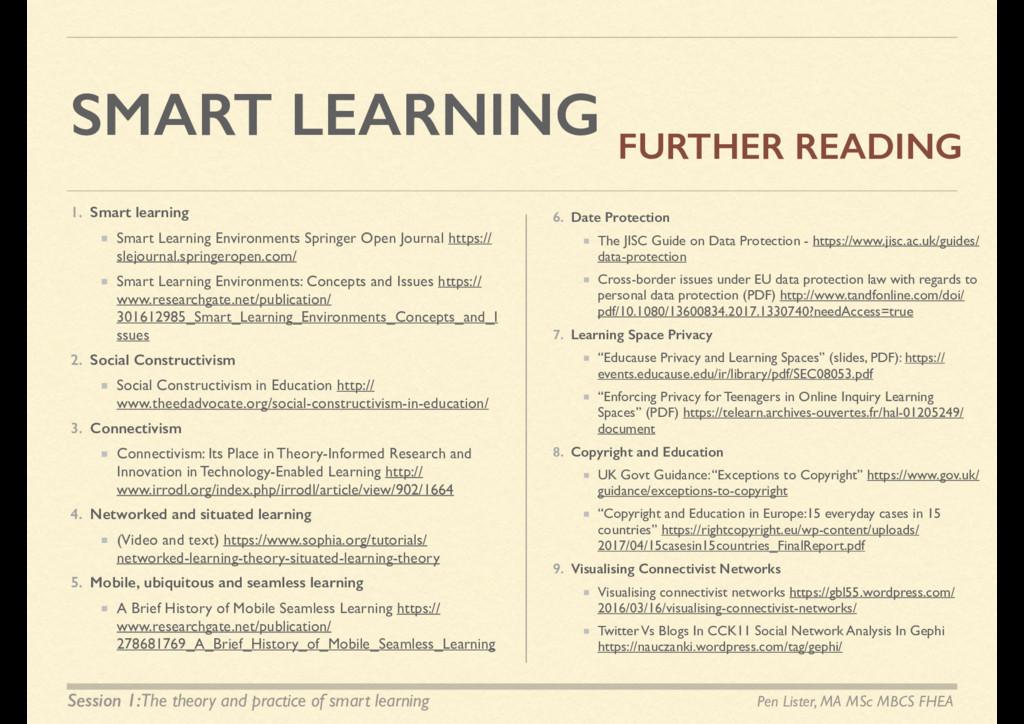 SMART LEARNING 1. Smart learning Smart Learning...