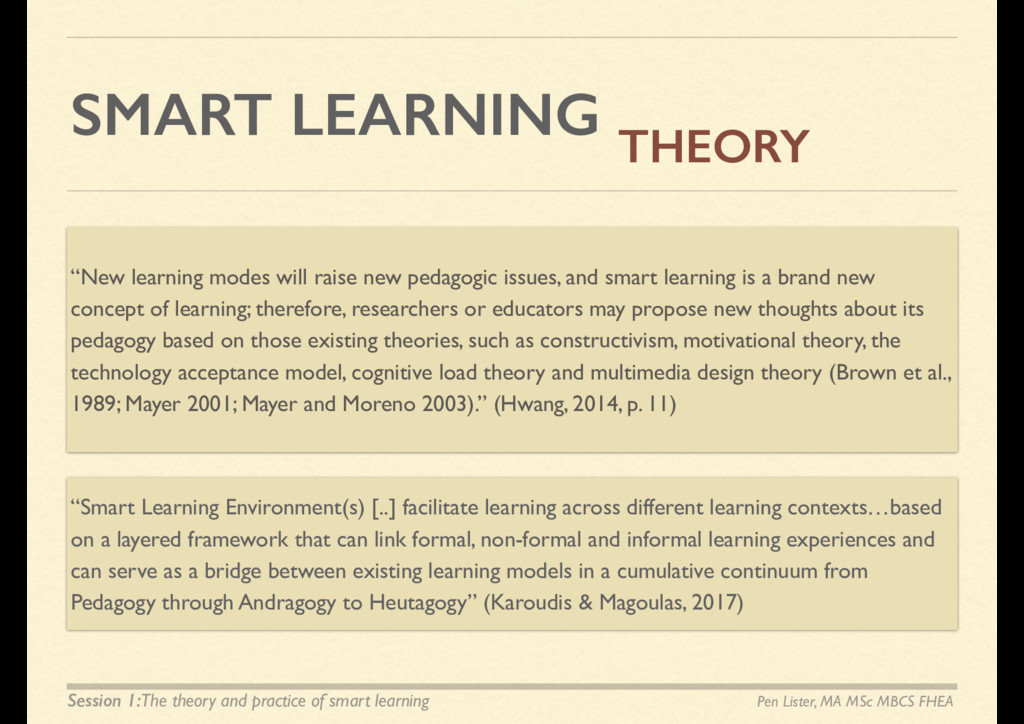 """SMART LEARNING """"New learning modes will raise n..."""