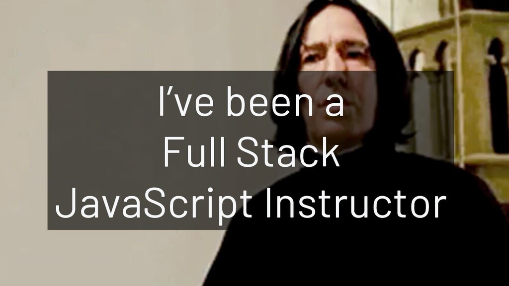 @JoeKarlsson1 I've been a Full Stack JavaScript...