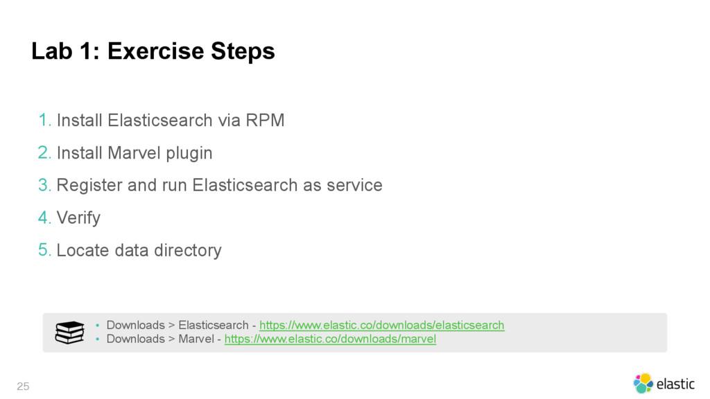 Lab 1: Exercise Steps  1. Install Elasticsear...