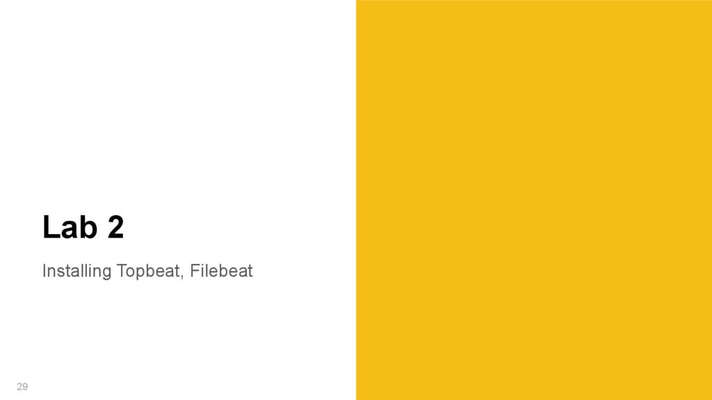 Installing Topbeat, Filebeat 29 Lab 2