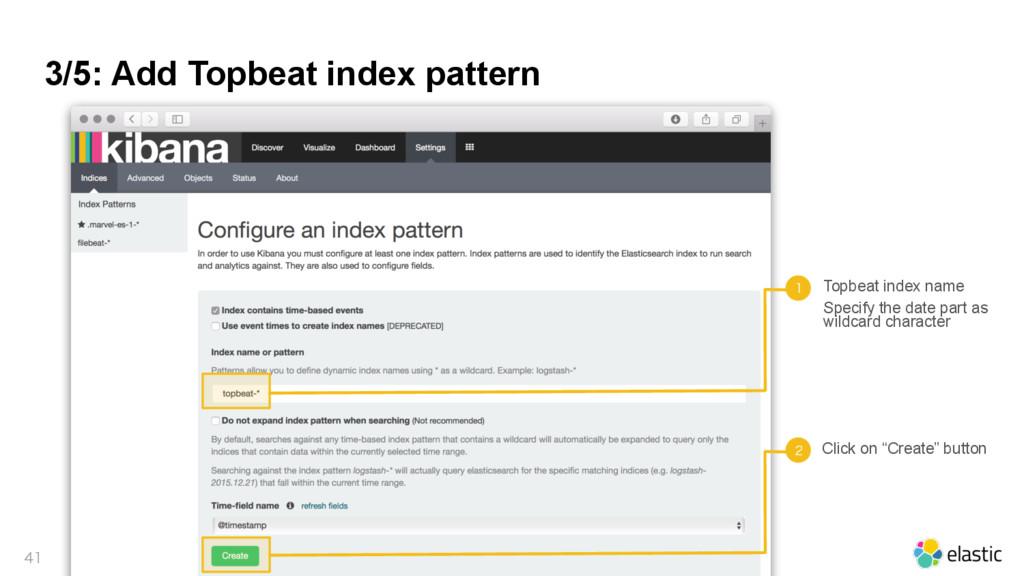 3/5: Add Topbeat index pattern   Topbeat ind...