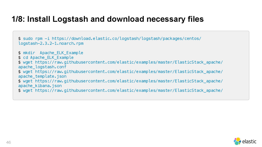 1/8: Install Logstash and download necessary fi...