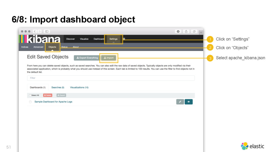 """6/8: Import dashboard object   Click on """"Set..."""