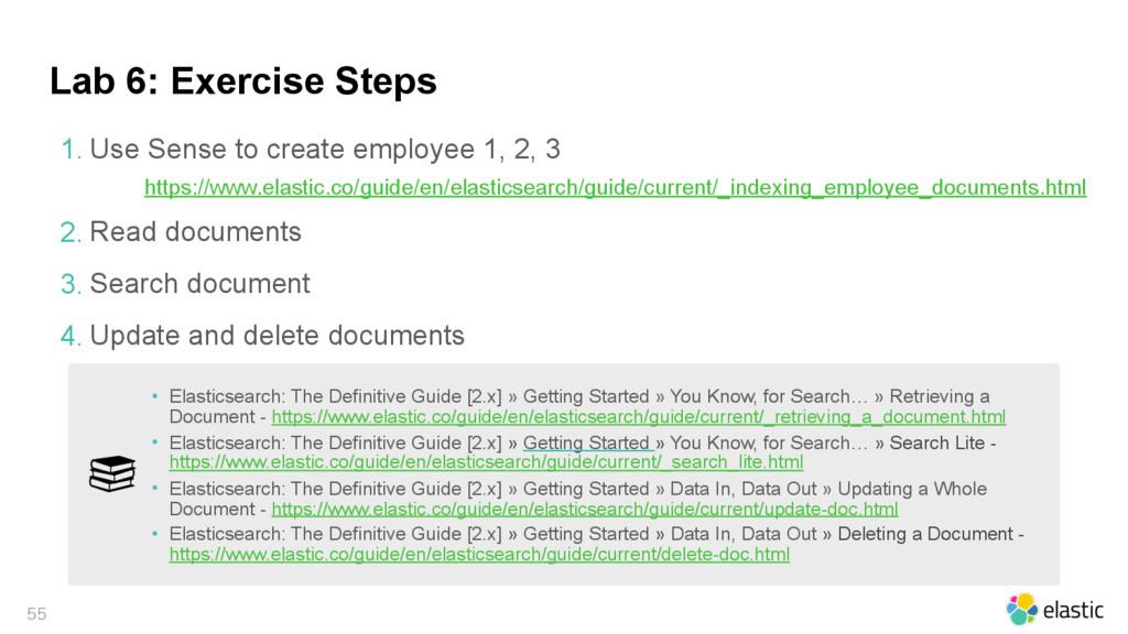 Lab 6: Exercise Steps  1. Use Sense to create...