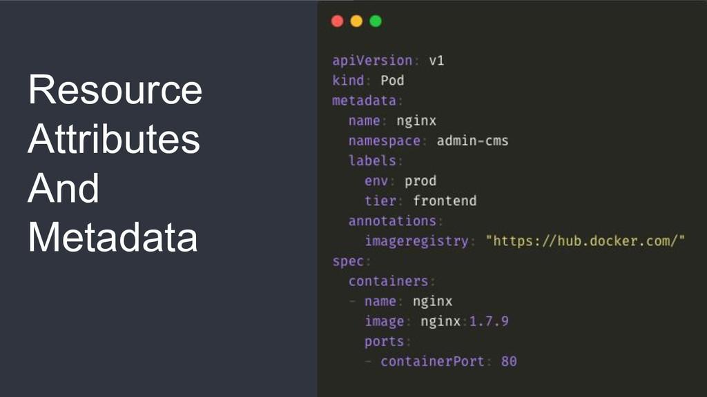 Resource Attributes And Metadata