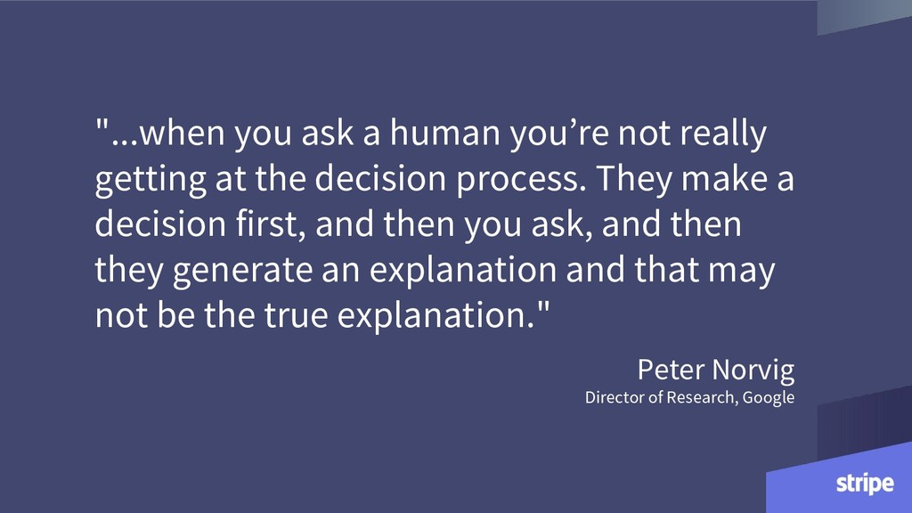 """""""...when you ask a human you're not really gett..."""