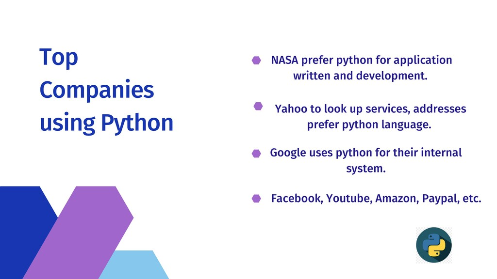 Top Companies using Python NASA prefer python f...