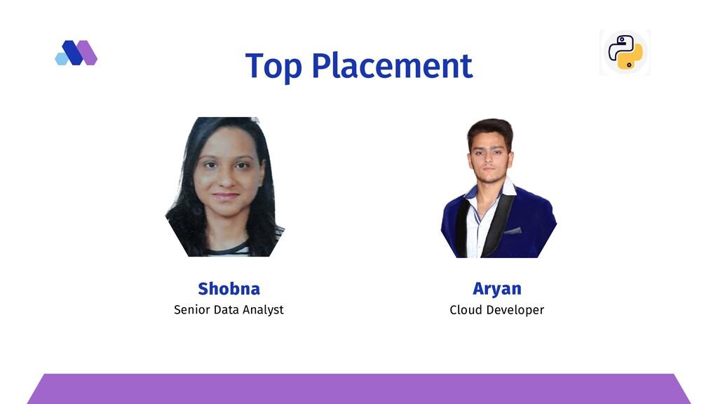 Top Placement Senior Data Analyst   Shobna Clou...