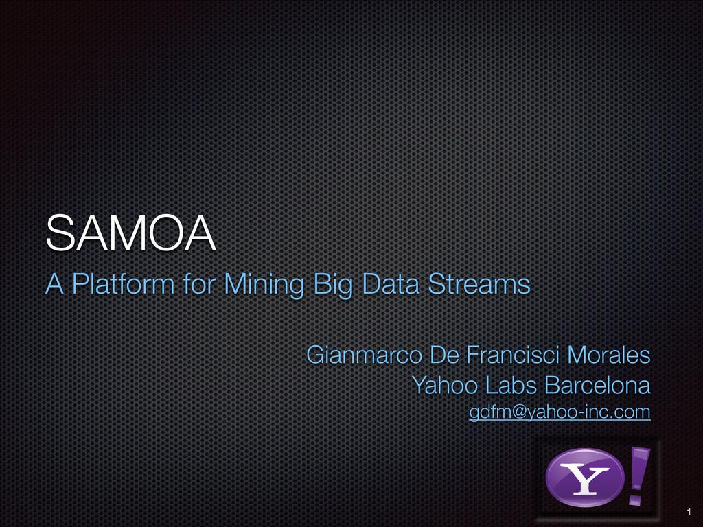SAMOA A Platform for Mining Big Data Streams  ...