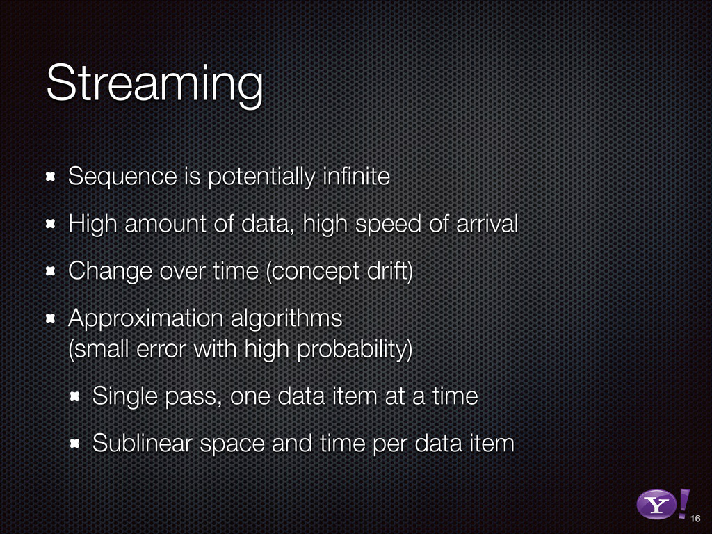Streaming Sequence is potentially infinite High ...