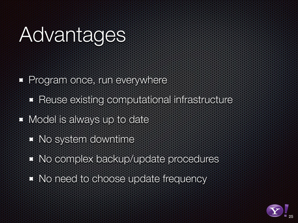 Advantages Program once, run everywhere Reuse e...