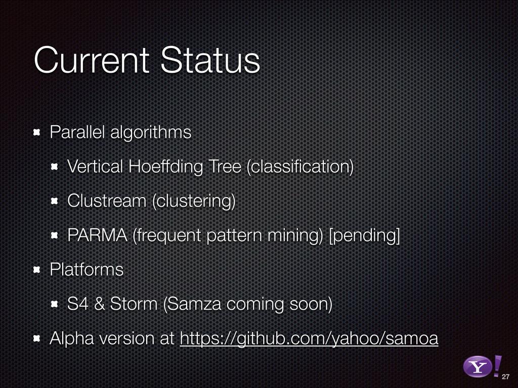 Current Status Parallel algorithms Vertical Hoe...