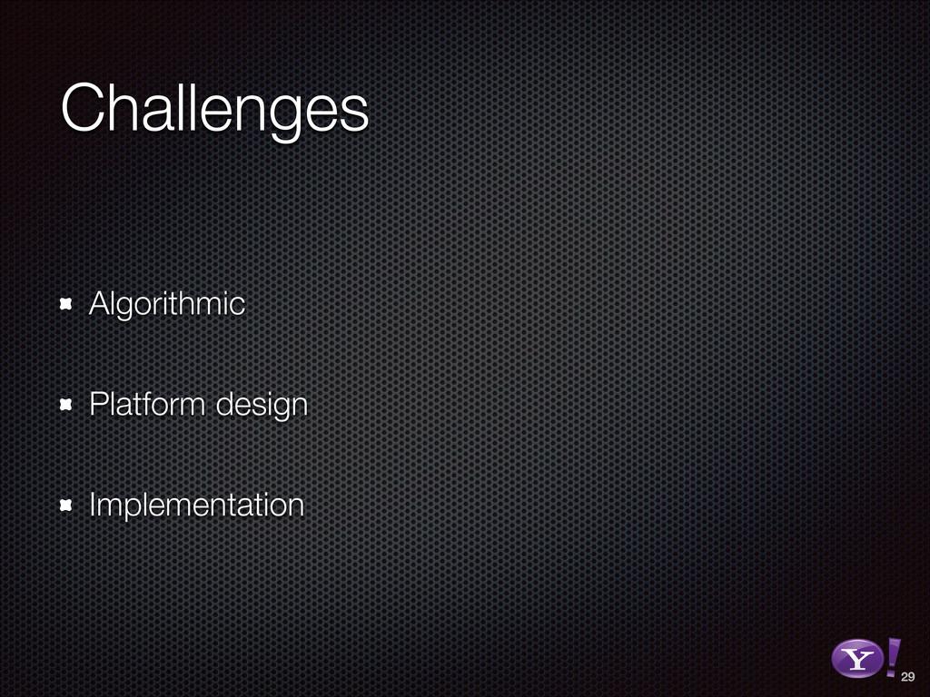 Challenges Algorithmic Platform design Implemen...