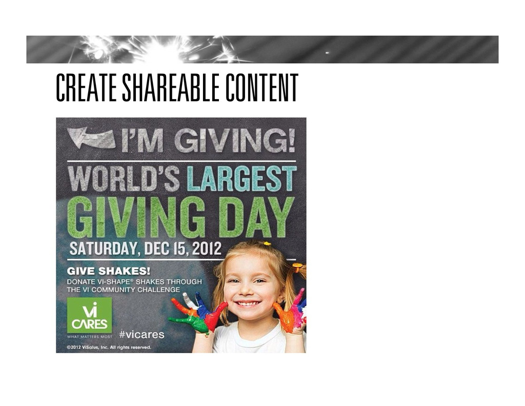 CREATE SHAREABLE CONTENT