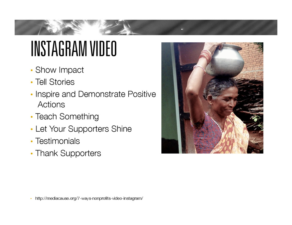 INSTAGRAM VIDEO •  Show Impact