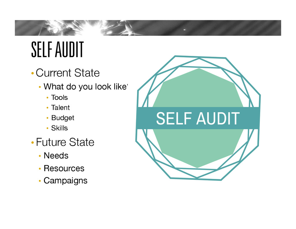 SELF AUDIT • Current State