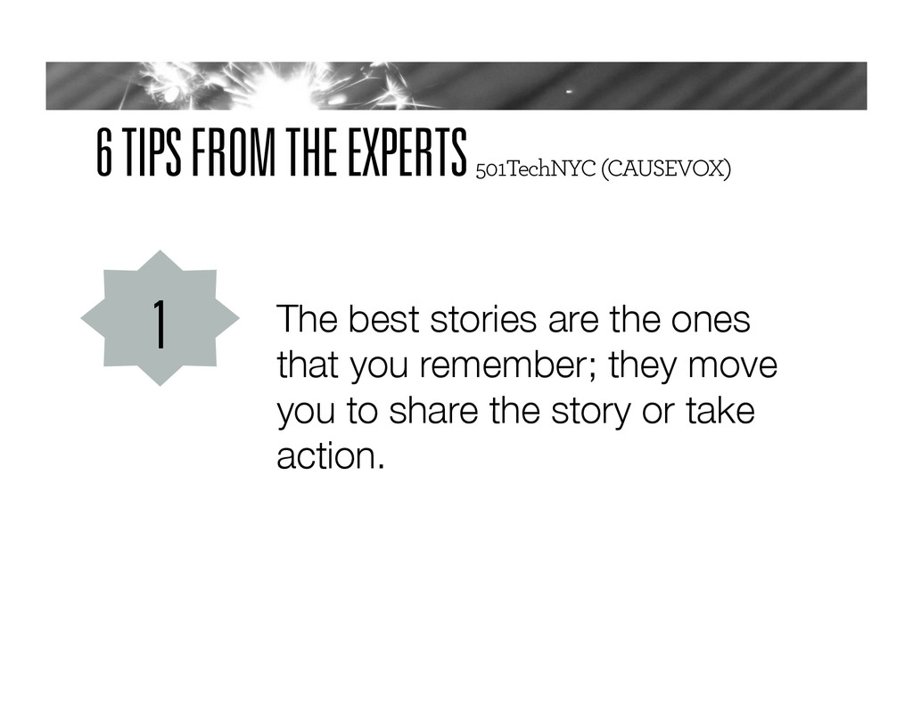 6 TIPS FROM THE EXPERTS 501TechNYC (CAUSEVOX) T...