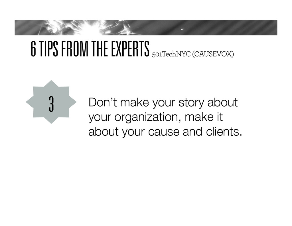 6 TIPS FROM THE EXPERTS 501TechNYC (CAUSEVOX) D...