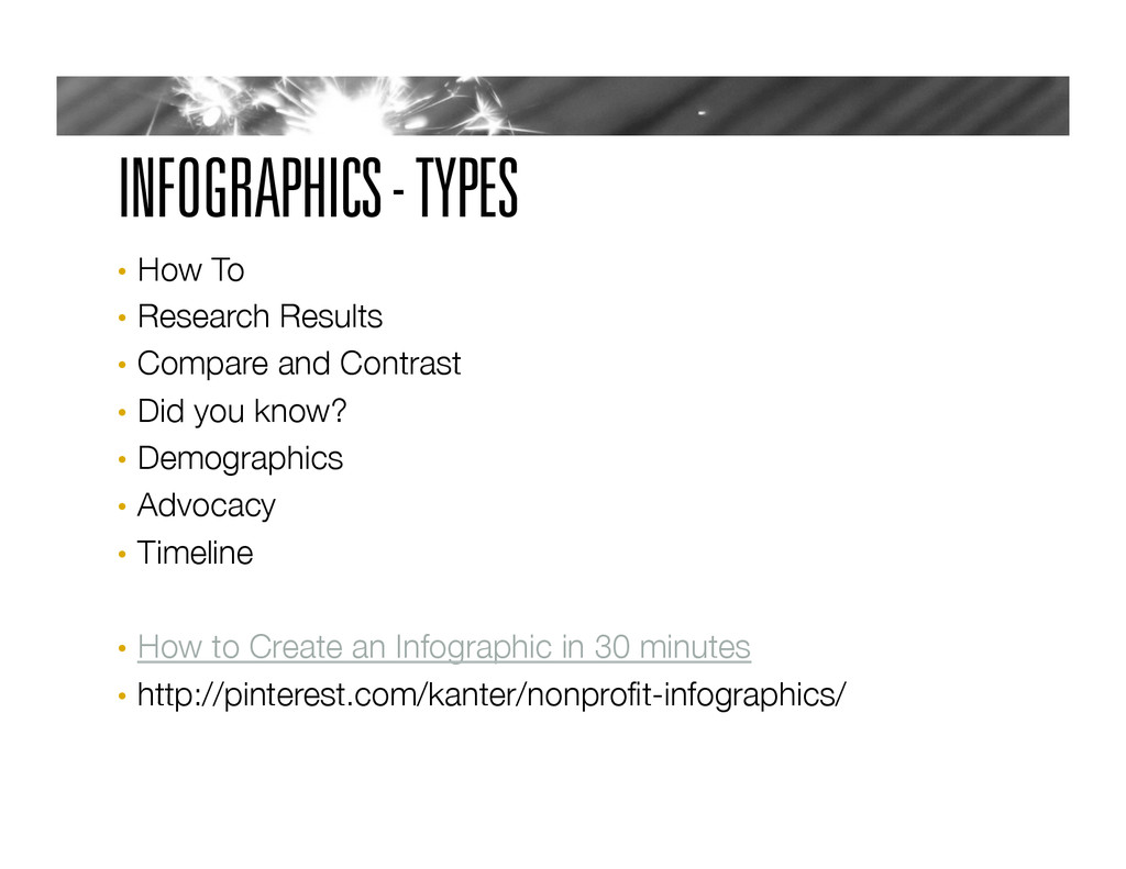 INFOGRAPHICS - TYPES •  How To