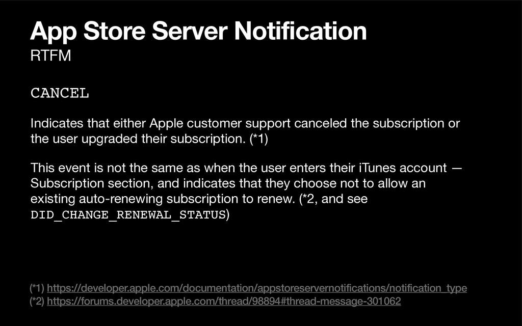 App Store Server Notification CANCEL Indicates ...