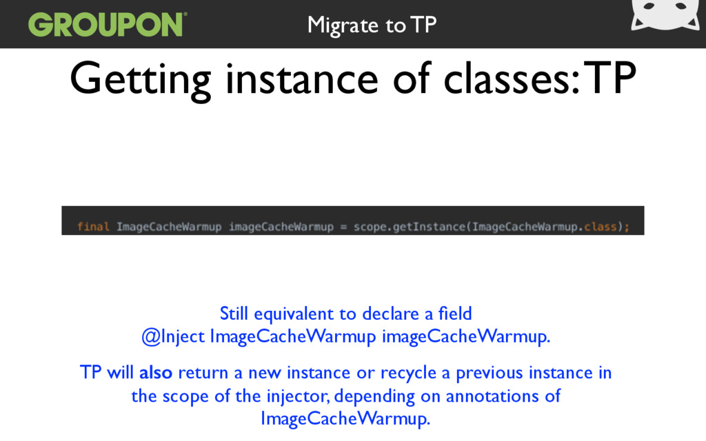 Getting instance of classes: TP Still equivalen...