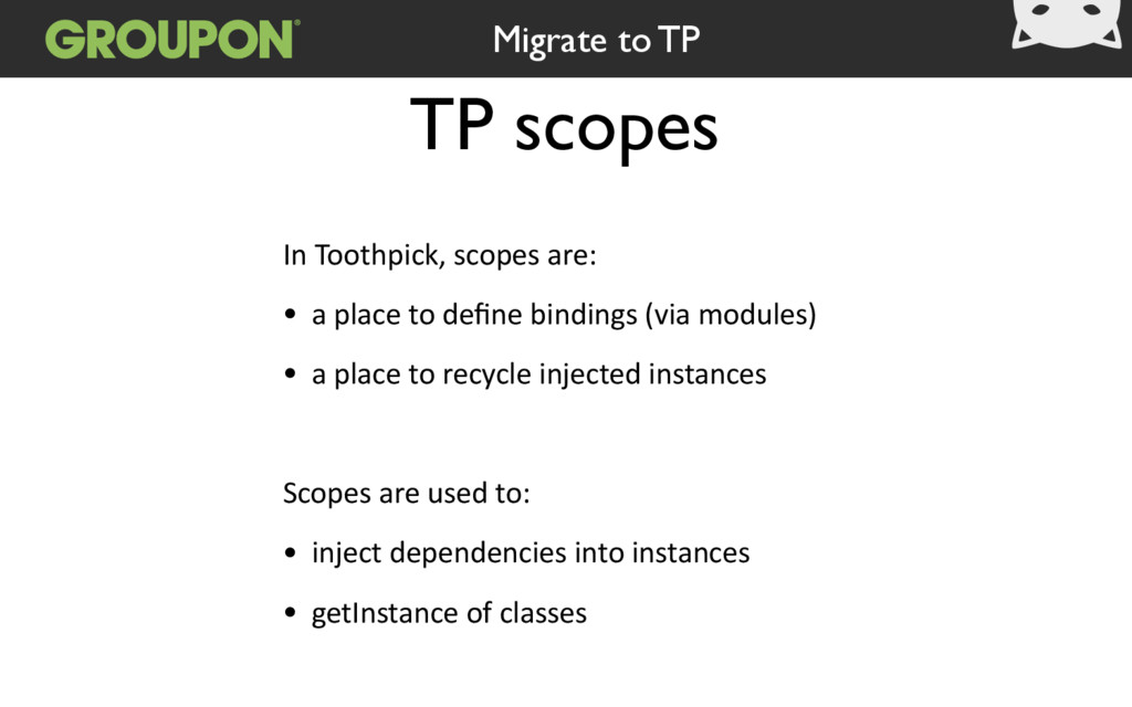 TP scopes In Toothpick, scopes are:   • a ...