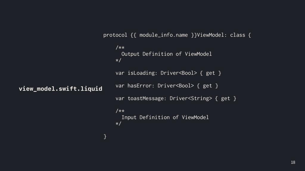 view_model.swift.liquid protocol {{ module_i...