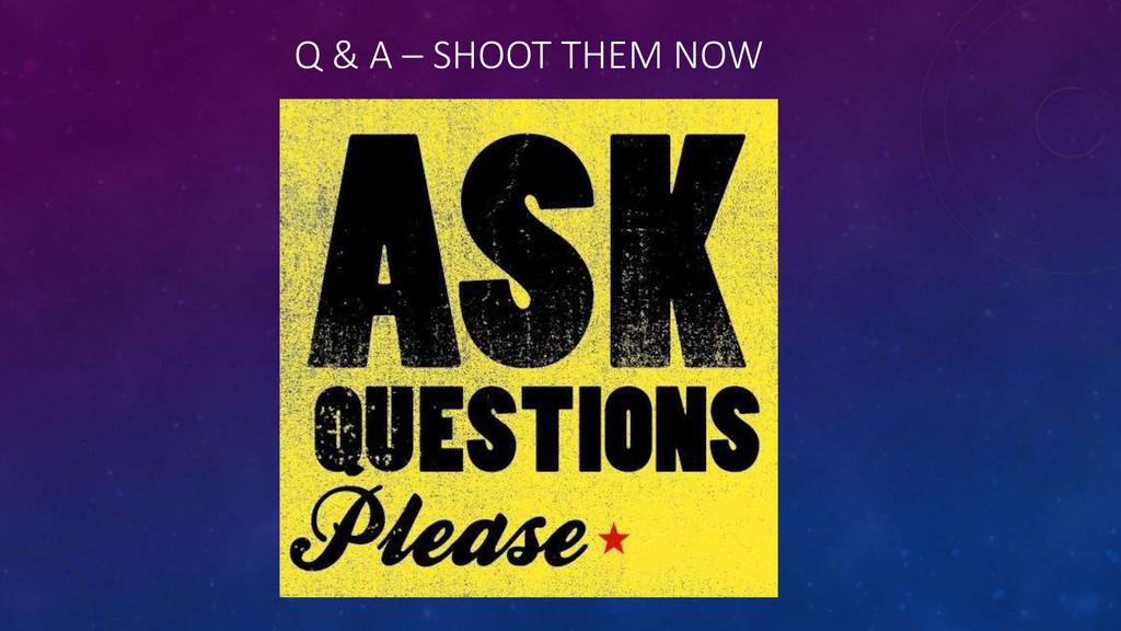 Q & A – SHOOT THEM NOW
