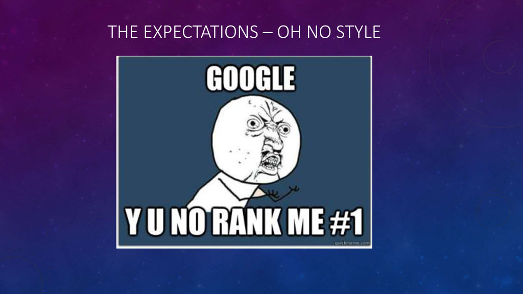THE EXPECTATIONS – OH NO STYLE
