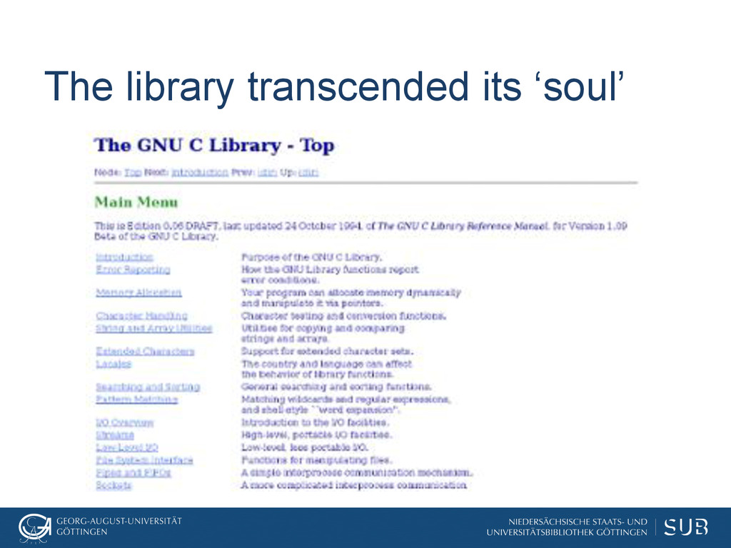 The library transcended its 'soul'