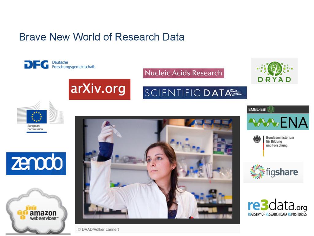 Brave New World of Research Data [Anlass der Pr...