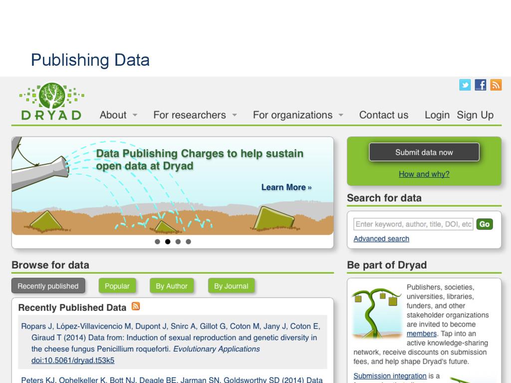 Publishing Data [Anlass der Präsentation]