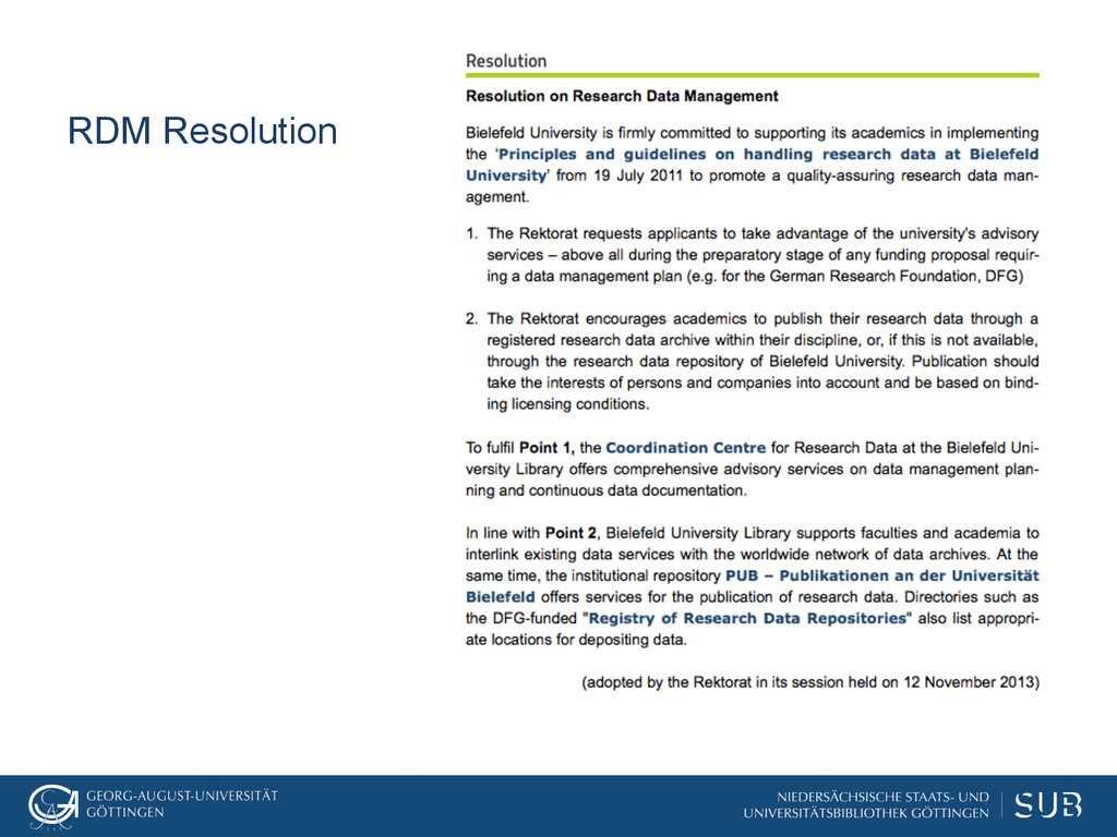 RDM Resolution