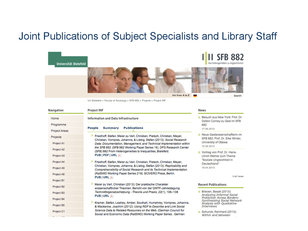 Joint Publications of Subject Specialists and L...