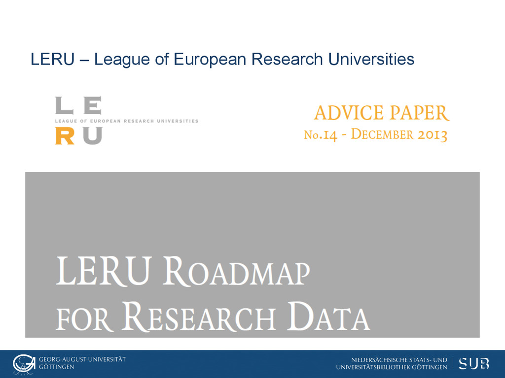 LERU – League of European Research Universities
