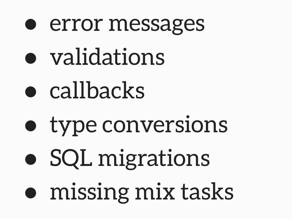 • error messages • validations • callbacks • ty...