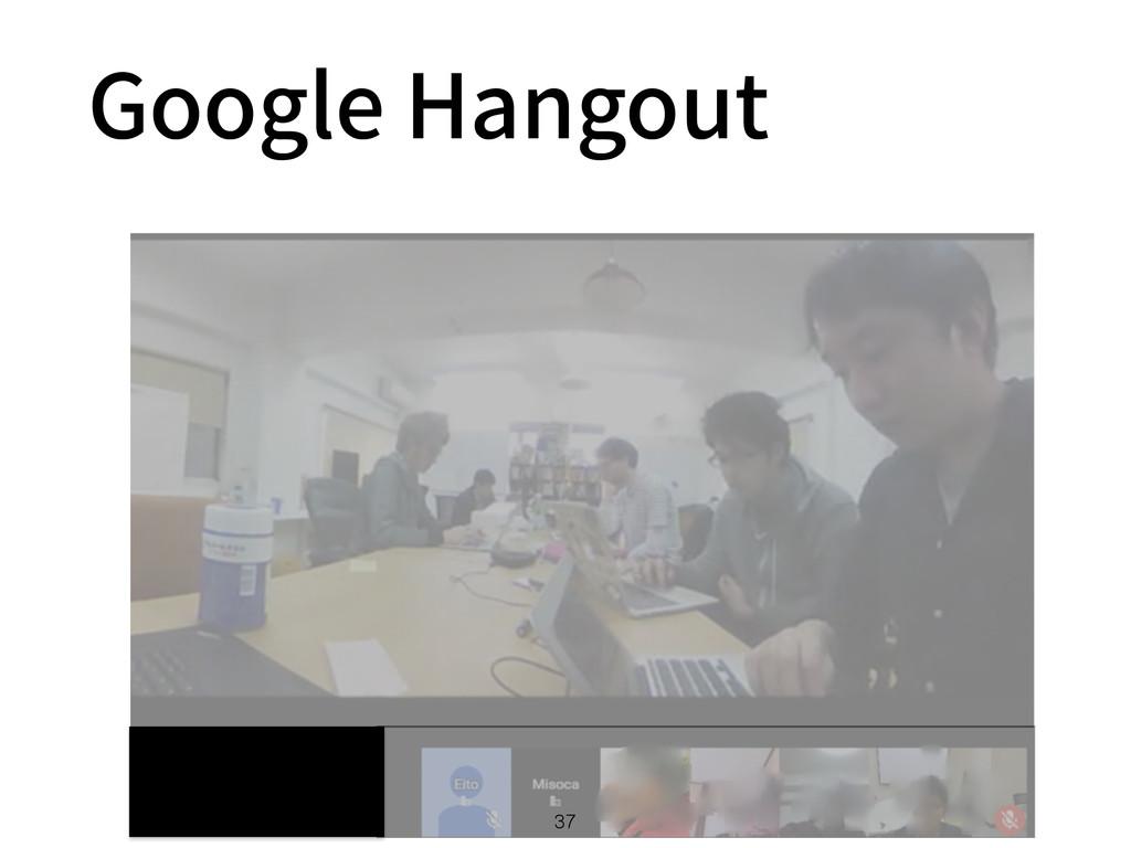 Google Hangout 37