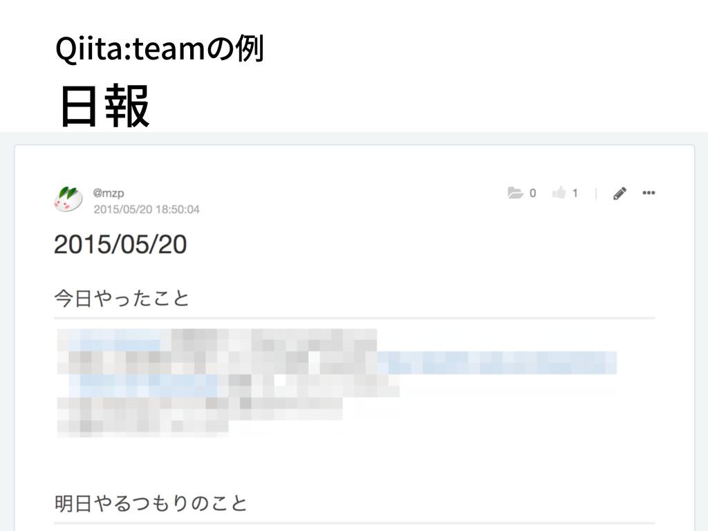Qiita:teamの例 日報 51