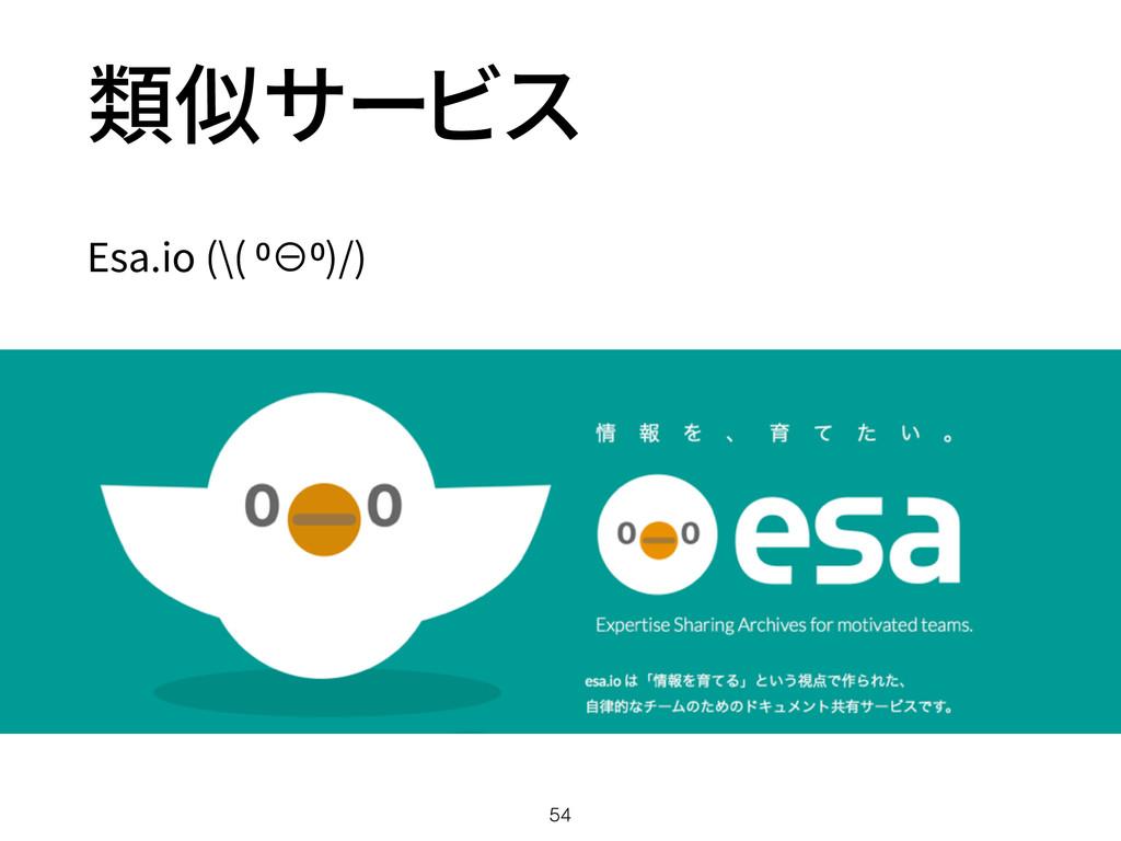 類似サービス Esa.io (\( ⁰⊖⁰)/) 54