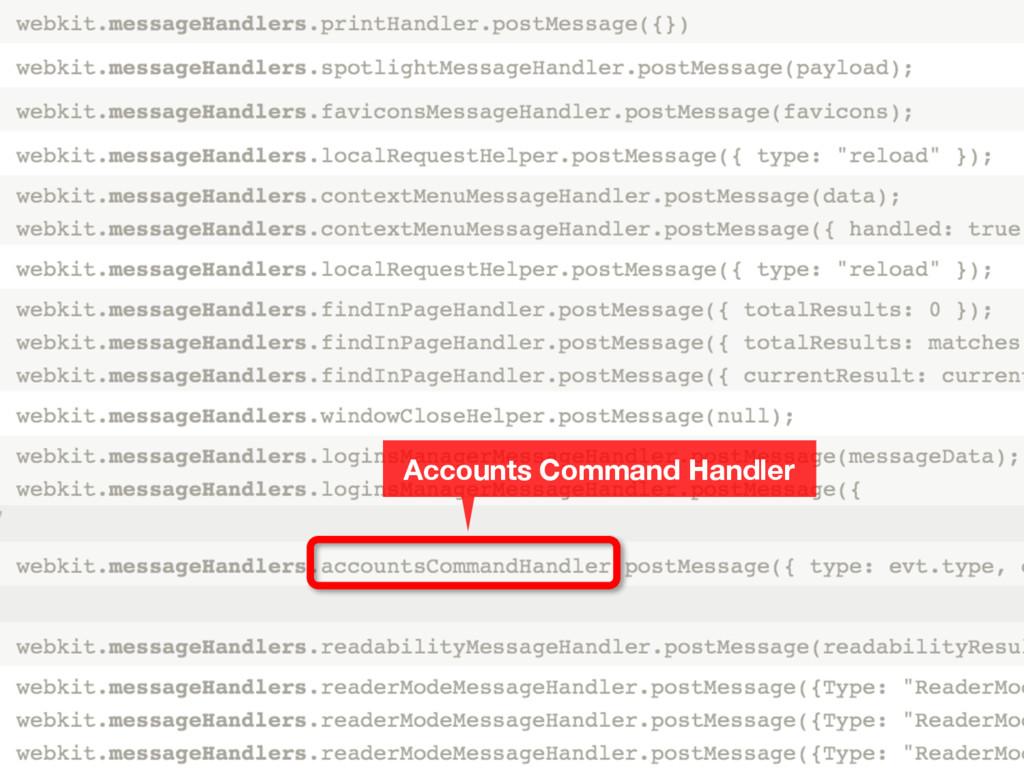 Accounts Command Handler