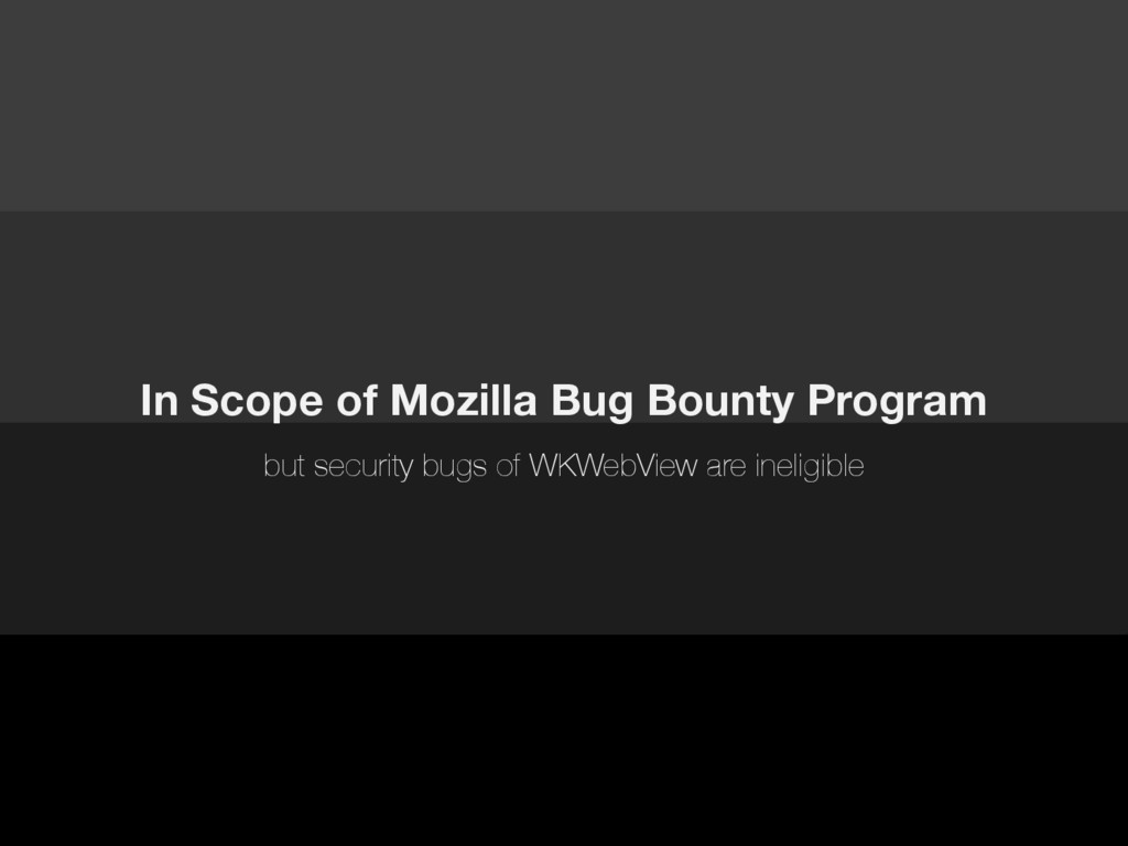 In Scope of Mozilla Bug Bounty Program but secu...