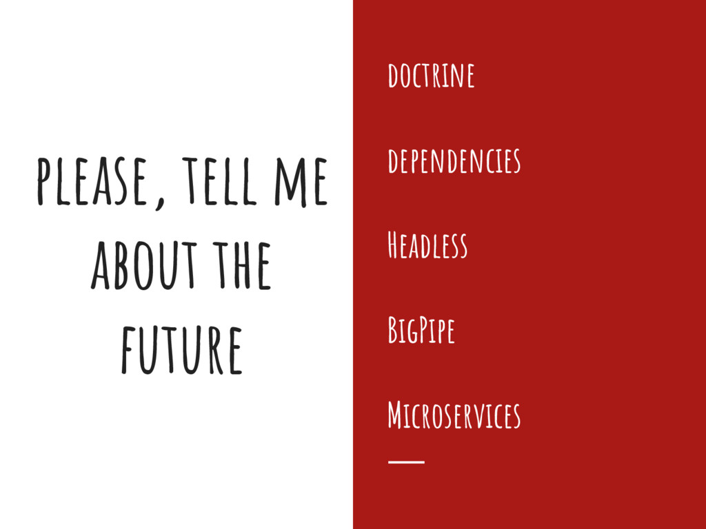 please, tell me about the future doctrine depen...