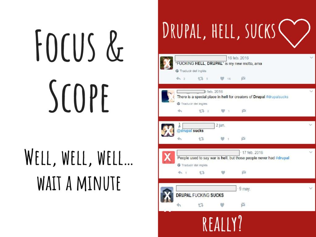 Focus & Scope Well, well, well… wait a minute D...
