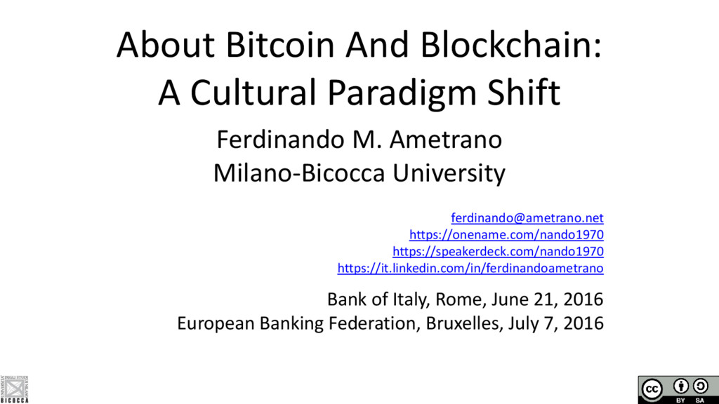 About Bitcoin And Blockchain: A Cultural Paradi...